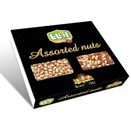Gift packaging of mixed nuts